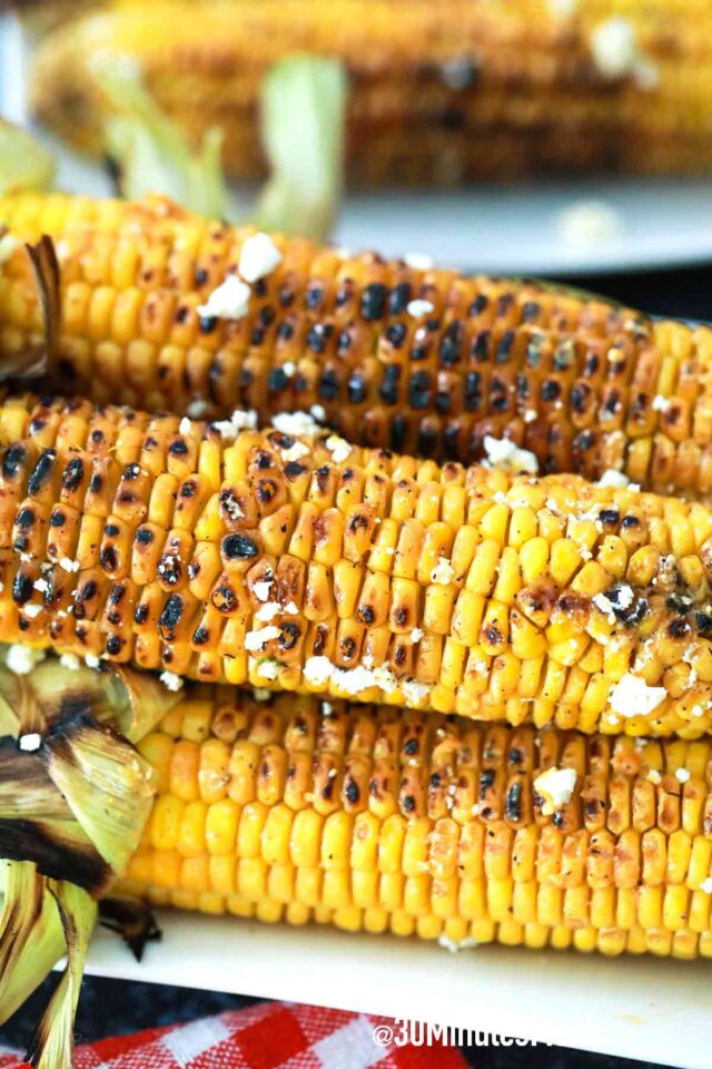 grilled corn with cheese