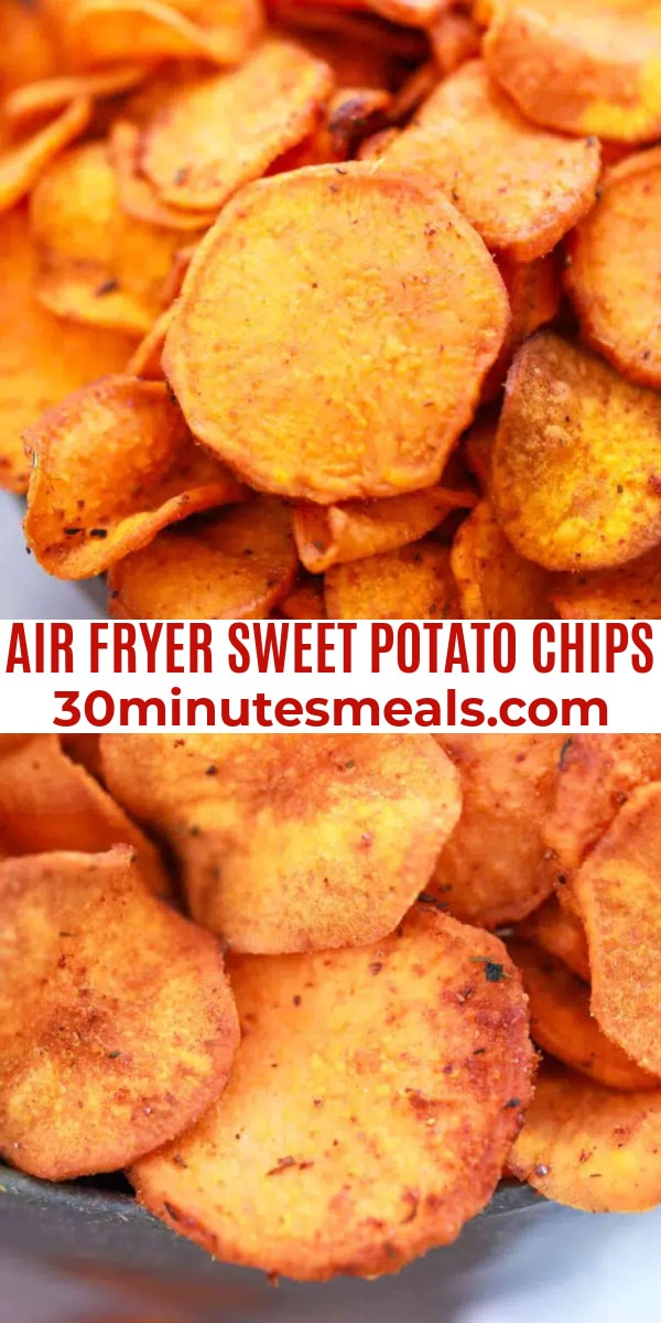 easy air fryer sweet potato chips pin