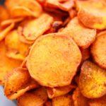 bowl of homemade sweet potato chips
