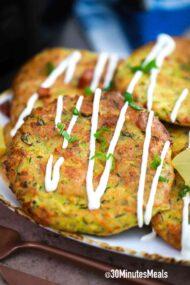 crispy air fried zucchini fritters